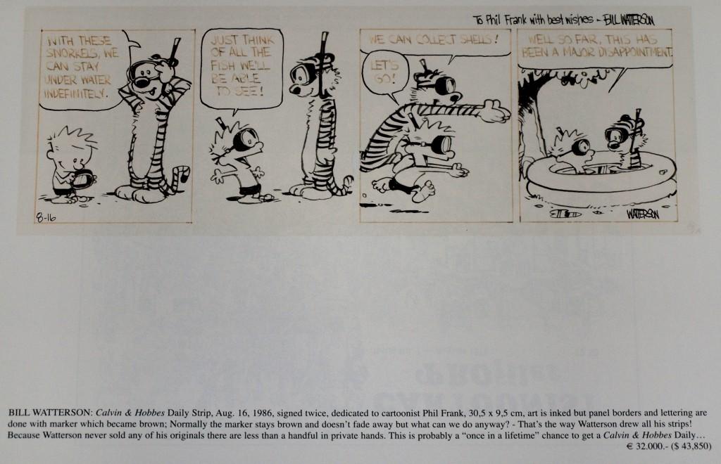 Calvin e Hobbes Catalogo Carsten Laqua